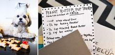 Homemade peanut butter pup treats