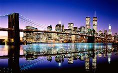Christmas New York City Skyline at Night | Celebrities' favourite holiday destinations