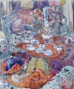 lawrenceleemagnuson:  Ethel Sands (UK 1873-1962)Tea with Sickert (1911-1912)oil on canvas 61 x 51 cm