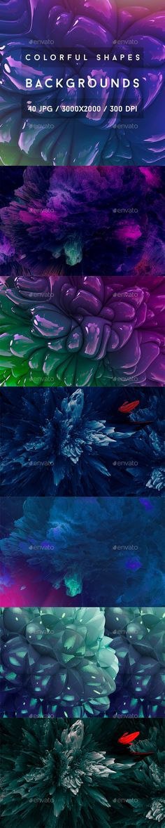 40 Colorful Shapes Backgrounds This pack includes 40 Colorful Shapes Backgrounds. Suitable for printing, web design, banners, post