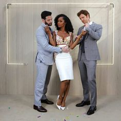 Colin, Yaya and Nick from the Chicago Med FB page Chicago Med, Chicago Fire, Yaya Dacosta, Tommy Merlyn, Colin Donnell, Chicago Justice, Tv Show Outfits, Chicago Shows, Glamour Uk