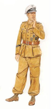Oberstleutnant (Teniente Coronel) Luftwaffe, Norte de África, 1942.
