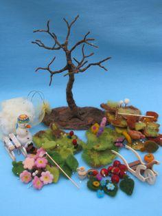 Needle felted seasonal tree.