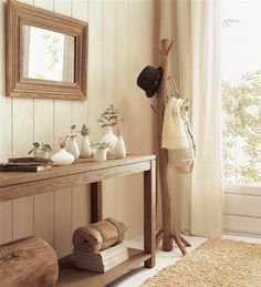 Recibidores: el mejor comité de bienvenida al otoño Hallway Colours, Entryway Tables, Entry Foyer, Entrance Hall, Mudroom, Sweet Home, Living Room, Family Room, House Design