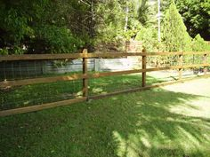 Hardwood Timber fence with dog wire and 3 horizontal timber rails makes for an excellent dog fence. Fencescape Fencing