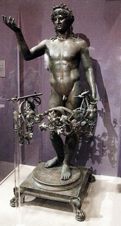 hadrian6:     Bronze statue of Bacchus from... | Roman and Greek Art
