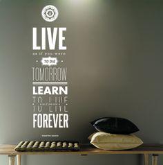 Da click! Vinilo Decorativo Ghandi Wall Prints, Diy Home Decor, Sweet Home, House Design, Learning, Interior, Inspiration, Room Stuff, Snack