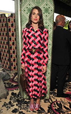 Royal Charlotte Casiraghi packed a punch on the Gucci front row in symmetrical prints