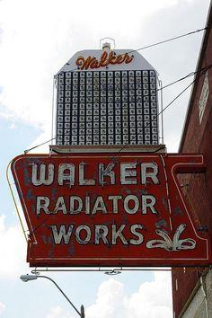 Walker Radiator Works ~ Old Neon Sign, Memphis,TN.