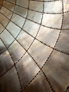 Gorgeous perforated, rounded metalwork.
