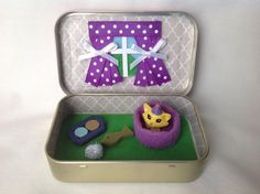 Cat/Kitten Altoids Tin Toy Squinkies/ Quiet Time Tin  by kattymoon