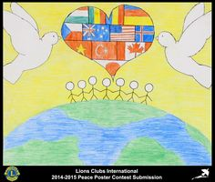 2014-15 Lions Clubs International Peace Poster Competition submission from Lobatse Lions Club in Botswana