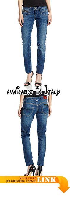 B072BY31L3 : Freeman T. Porter Alexa S-SDM Jeans Slim Donna Blau (Flexy