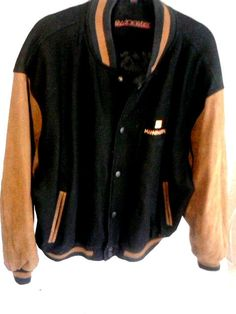 Vintage Swingster Leather Armed Letterman Varsity Jacket -Mannington Logo XL #Swingster #VarsityLetterman