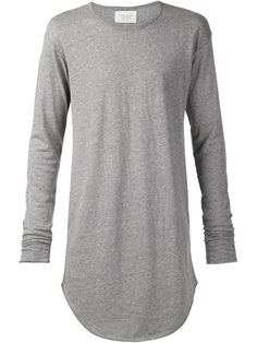 Fear Of God Long-Line Cotton-Blend T-Shirt in Gray for Men (grey) | Lyst