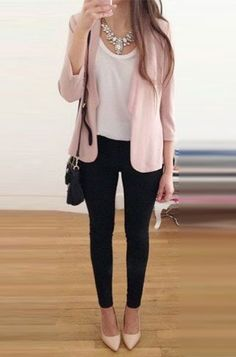 Women's Business Casual Styles To Adopt In The Last Quarter Of 2016 - Work Outfits Women Spring Dresses Casual, Summer Work Outfits, Trendy Dresses, Spring Outfits, Trendy Outfits, Fashion Outfits, Dress Casual, Fashion Ideas, 20s Outfits