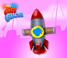 Get Ghost! Rocket Upgrade4 Low Poly 272 tris