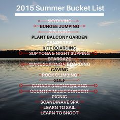Summer Bucket List Cross Off Sup Yoga, Bungee Jumping, Summer Bucket Lists, Balcony Garden, Summer 2015, Country Music, Sailing, Highlights, Candle