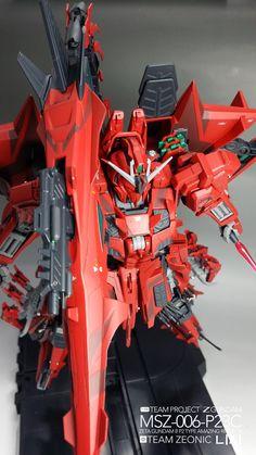 MG 1/100 MSZ-006-P23C Amazing Red Zeta Gundam - Customized Build     Modeled by Team Zeonic