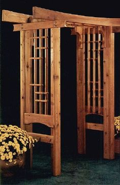 New japanese style cedar wood garden arbor pergola arch for Japanese garden structures wood