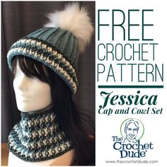 Free crochet hat and cowl patterns: Jessica – The Crochet Dude