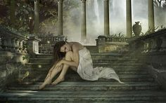 A Garota na escada por Tiago :: Leveoo - Imagens e papéis de parede