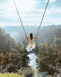 Swinging over this tropical jungle and feel how beautiful the paradise in Bali. One of the most recommended place to explore when traveling in Bali. Feel excited to come here guys? Vacation Places, Dream Vacations, Places To Travel, Travel Destinations, Places To Visit, Bali Travel, New Travel, Travel Goals, Girl Travel