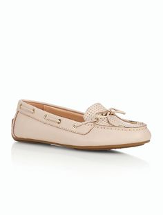 Easton Driving Moccasins - Perforated Pebble Leather - Talbots