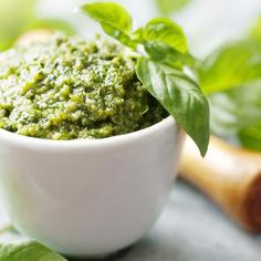 Garden Fresh Pesto. I can use my fresh basil growing like mad this year!