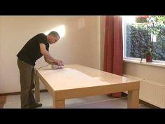 Rambo - Verven houten tafel - YouTube