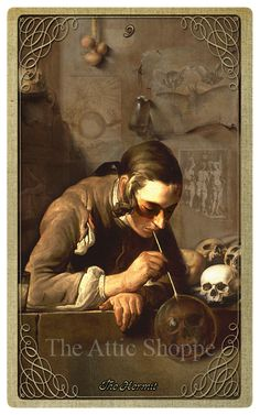 IX. The Hermit (The Collector) - The Attic Shoppe Halloween Tarot