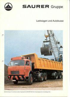 ▐  Saurer 5DF 6x4 | Saurer gruppe Old Trucks, Middle East, Trailers, Switzerland, Automobile, Advertising, History, Big, Classic