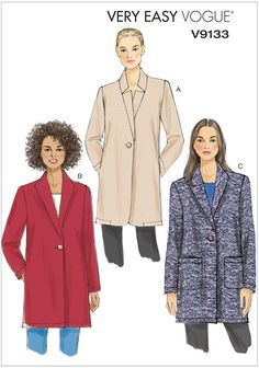 Misses Jacket Vogue Sewing Pattern 9133