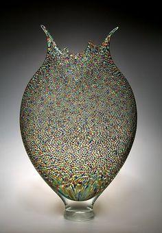 Pointillist Foglio: David Patchen: Art Glass Vessel