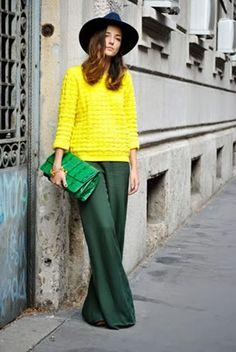 Basic Look verde e amarelo
