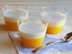 二色が楽しいオレンジヨーグルトゼリー