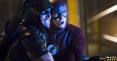 'Legends' Unite in Over 40 'Arrow' & 'Flash' Crossover Photos -- The CW has released over 40 photos from the 'Arrow' and 'Flash' 2015 crossover, a massive two-night event airing December 1st and 2nd. -- http://movieweb.com/arrow-flash-crossover-2015-photos/