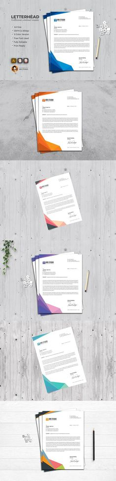 Professional Letterhead. Stationery Templates