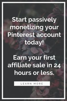 Learn how affiliate marketing can start earning you passive income today. #AffLink