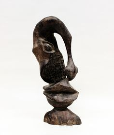Makonde Original African Art - Makonde Carvings - Abstract Two Faced Carving
