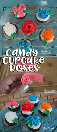 Easy Edible Roses on Cupcake Tutorial!