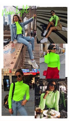 New Winter Camping Summer 23 Ideas Neon Green Outfits, Colourful Outfits, Edgy Outfits, Cute Outfits, Fashion Outfits, Womens Fashion, Ropa Color Neon, Top Neon, Winter Outfits