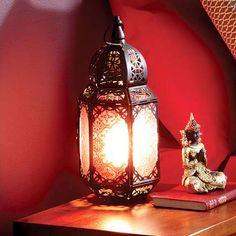 Moroccan copper lantern table lamp copper lantern moroccan and dunelm marrakech patterned black metal lantern table lamp 46 watt aloadofball Images