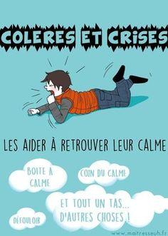 Colères et crises : les aider à retrouver leur calme