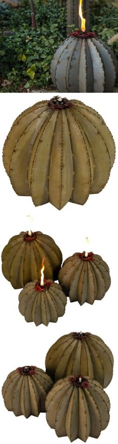 Garden and Patio Torches 183391: Garden Tiki Torch Decor Outdoor Barrel Cactus 1 Metal Torch Small - 12?W X -> BUY IT NOW ONLY: $141.99 on eBay!