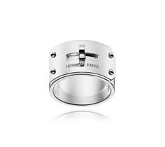 Kelly Silver Ring GM Hermes ring in silver, GM, size 53