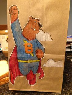 A dad draws on his son's lunch bag every day | Brian Dunn