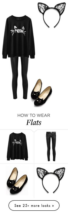 """""""I'm a cat duh! #happyhalloween"""" by allyse-sympson on Polyvore featuring Yves Saint Laurent"""