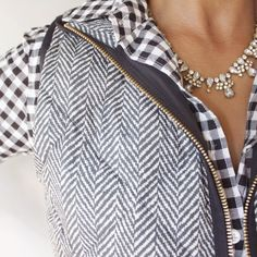 Moody Girl in Style: This novelty quilted puffer vest by J.Crew Factory is so popular this year F/W2014.