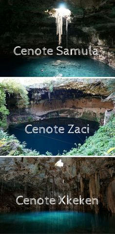 Three stunning cenotes in and around Valladolid.  The quaint colonial town of Valladolid is only about two hours east of Cancun!